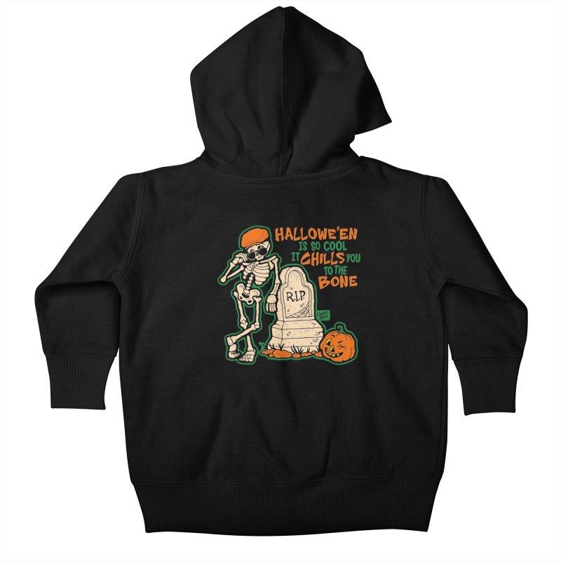 Chills You to the Bone Kids Baby Zip-Up Hoody by Casper Spell's Shop