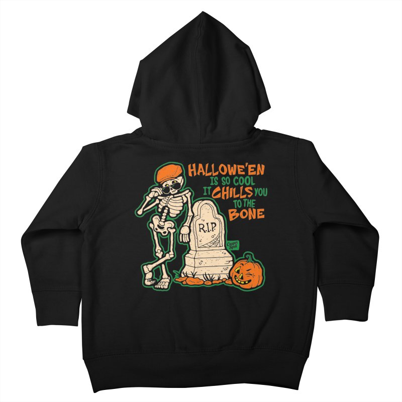 Chills You to the Bone Kids Toddler Zip-Up Hoody by Casper Spell's Shop