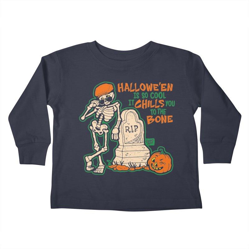 Chills You to the Bone Kids Toddler Longsleeve T-Shirt by Casper Spell's Shop