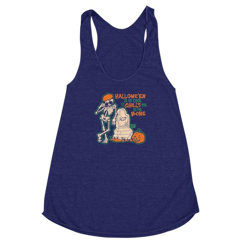 Chills You to the Bone Women's Racerback Triblend Tank by Casper Spell's Shop