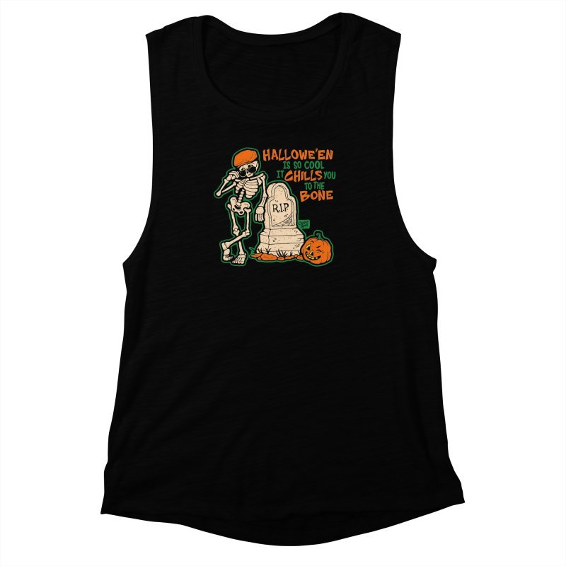 Chills You to the Bone Women's Muscle Tank by Casper Spell's Shop