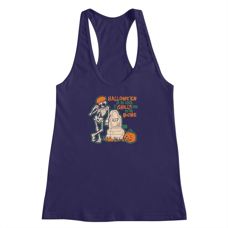 Chills You to the Bone Women's Racerback Tank by Casper Spell's Shop