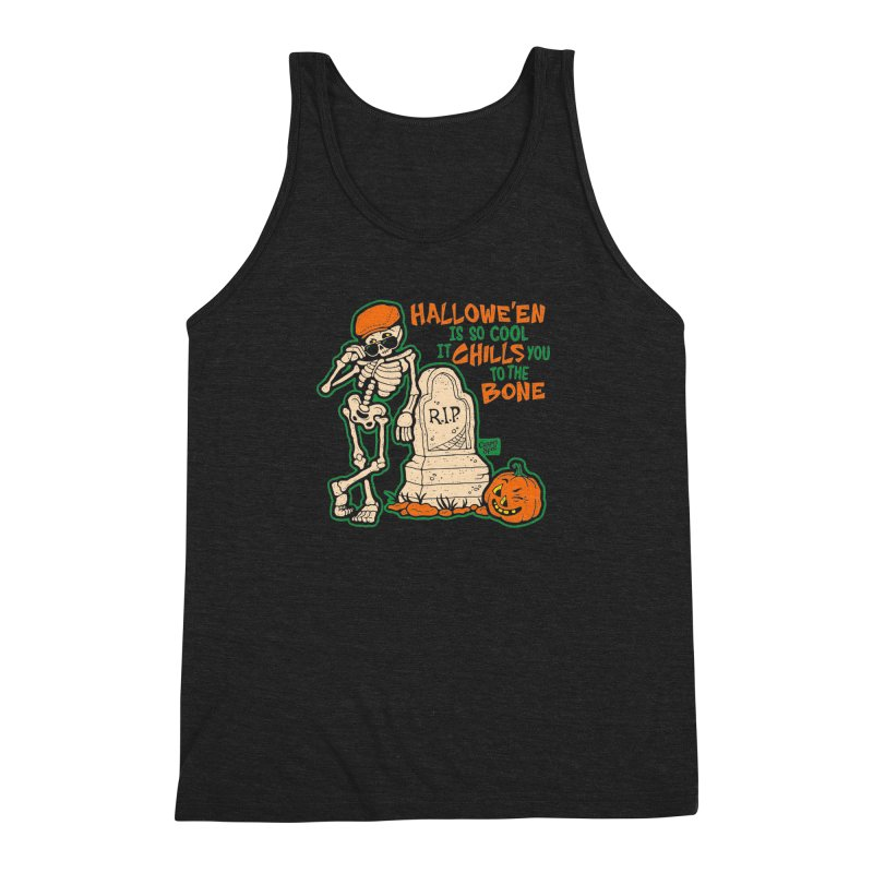 Chills You to the Bone Men's Triblend Tank by Casper Spell's Shop