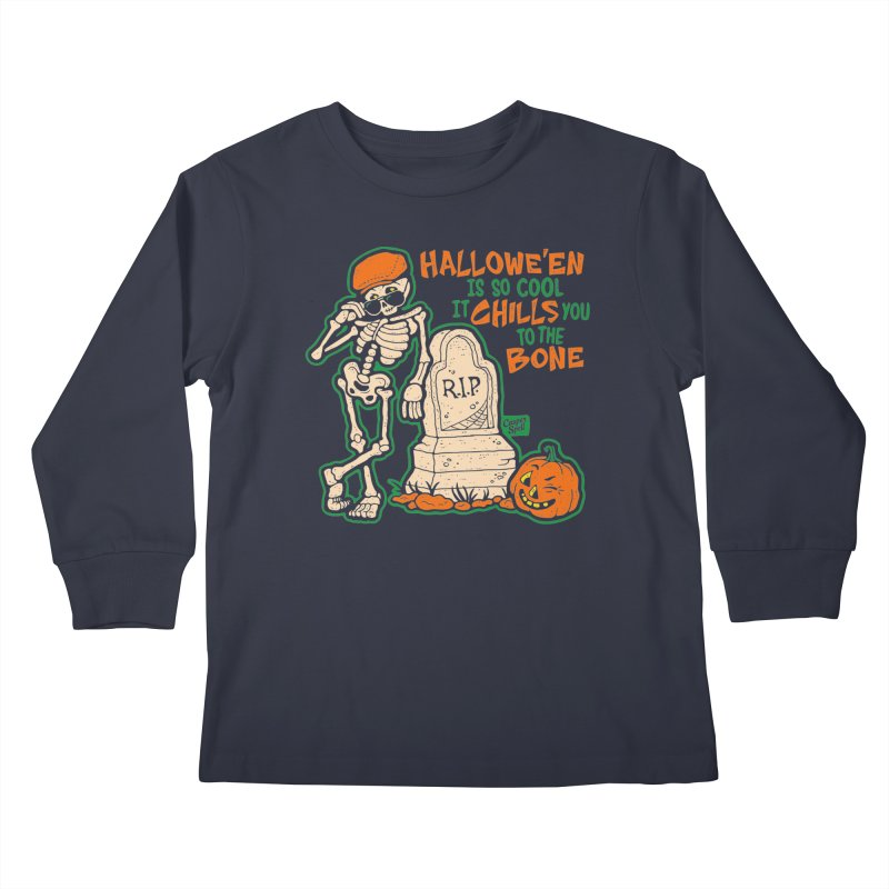 Chills You to the Bone Kids Longsleeve T-Shirt by Casper Spell's Shop
