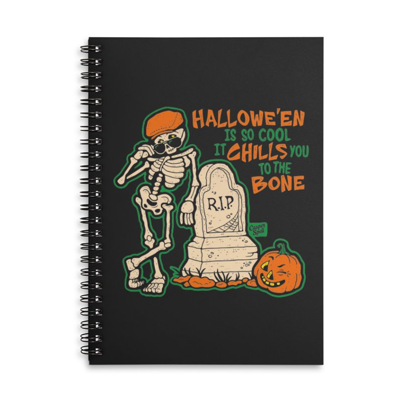 Chills You to the Bone Accessories Lined Spiral Notebook by Casper Spell's Shop