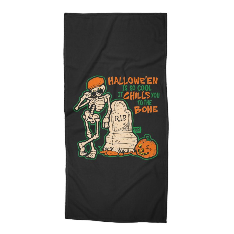 Chills You to the Bone Accessories Beach Towel by Casper Spell's Shop