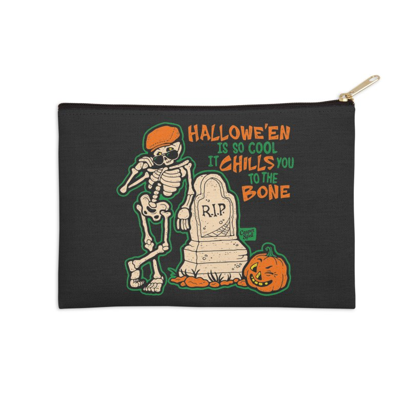 Chills You to the Bone Accessories Zip Pouch by Casper Spell's Shop