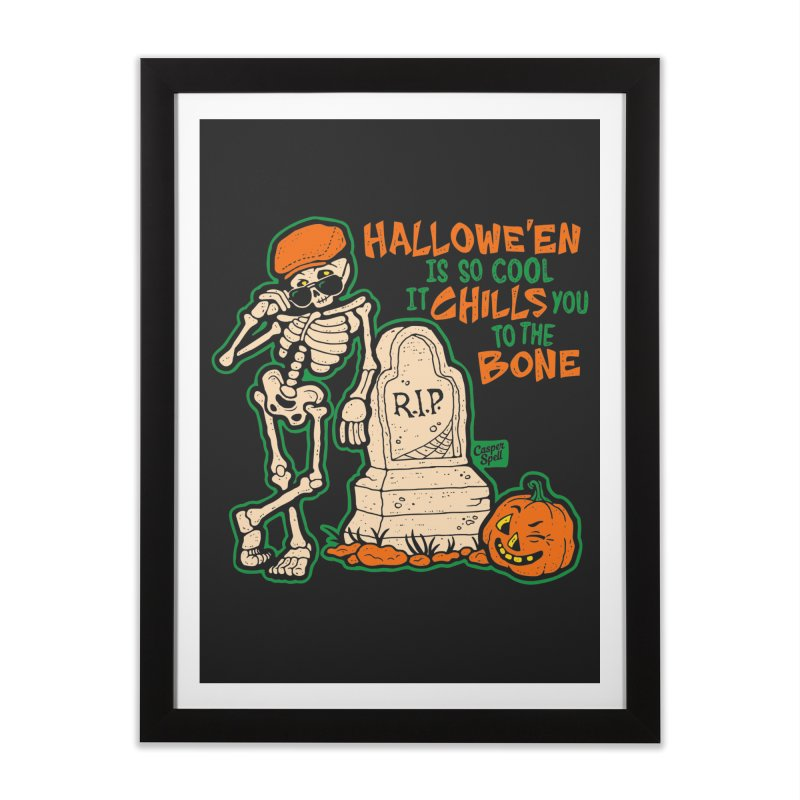 Chills You to the Bone Home Framed Fine Art Print by Casper Spell's Shop