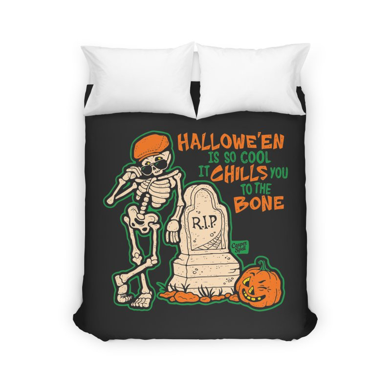 Chills You to the Bone Home Duvet by Casper Spell's Shop