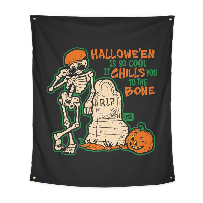 Chills You to the Bone Home Tapestry by Casper Spell's Shop