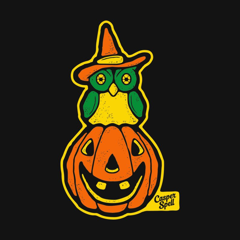 Witch Owl and Jack-O-Lantern None  by Casper Spell's Shop