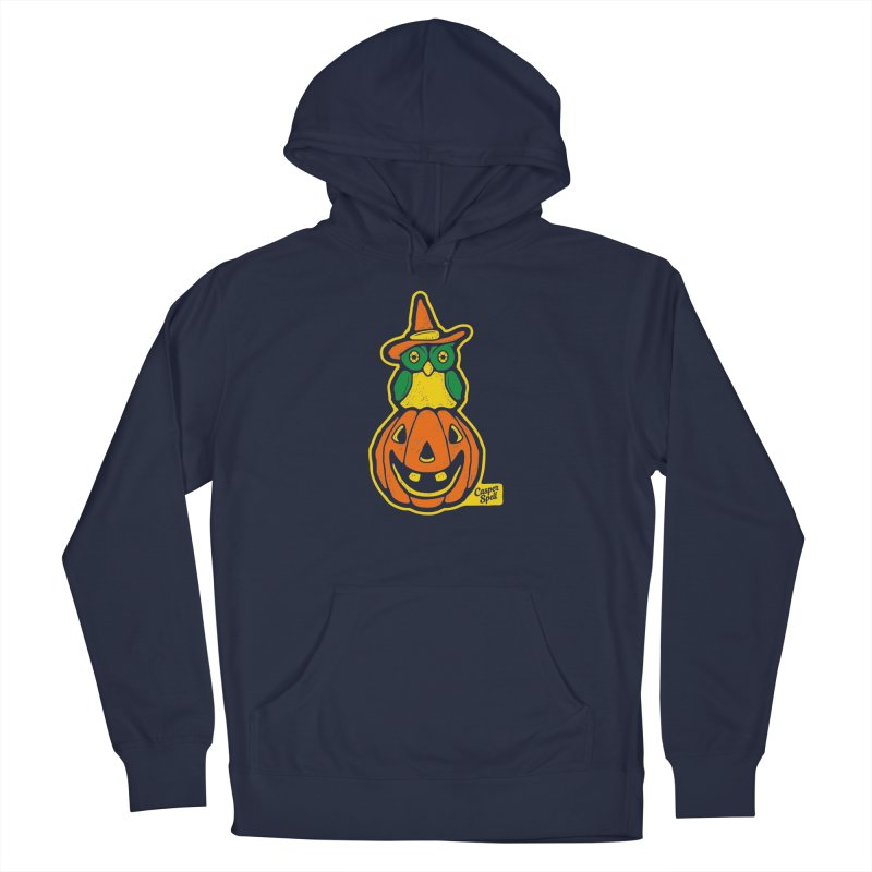 Witch Owl and Jack-O-Lantern Men's Pullover Hoody by Casper Spell's Shop