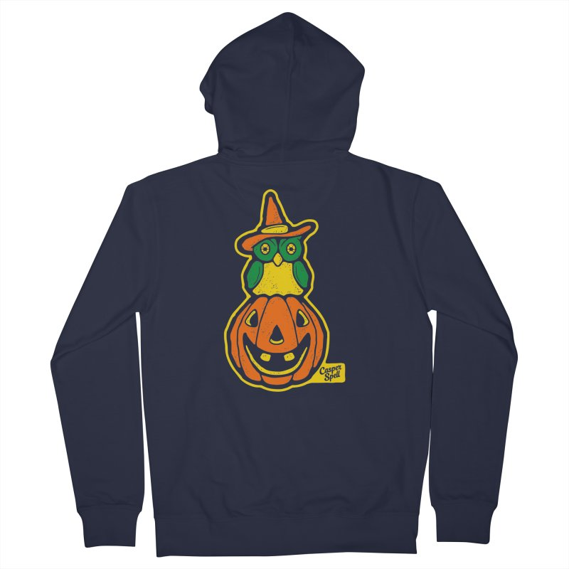 Witch Owl and Jack-O-Lantern Women's Zip-Up Hoody by Casper Spell's Shop