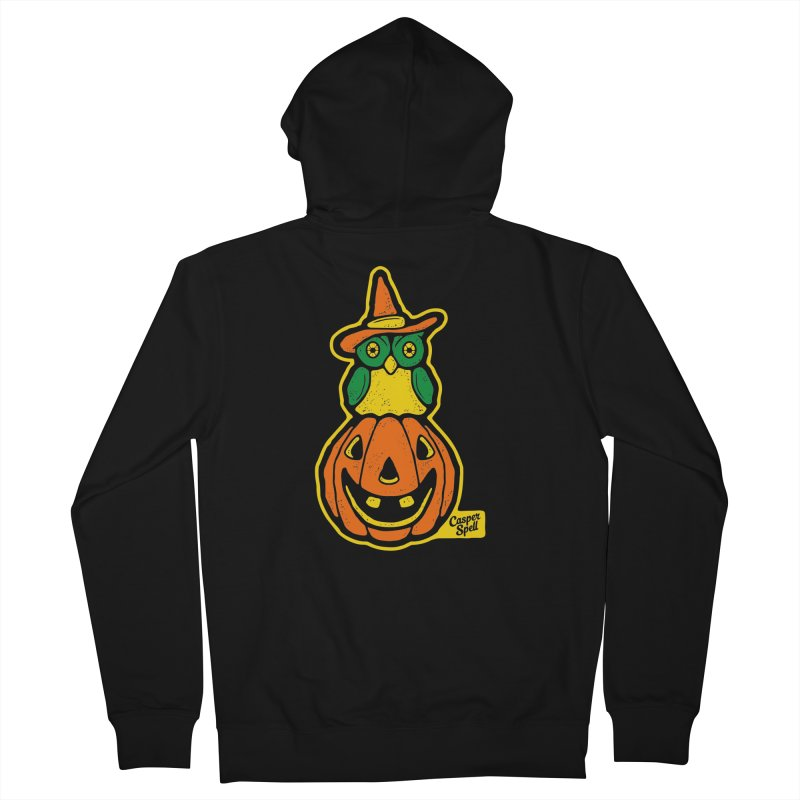 Witch Owl and Jack-O-Lantern Men's Zip-Up Hoody by Casper Spell's Shop