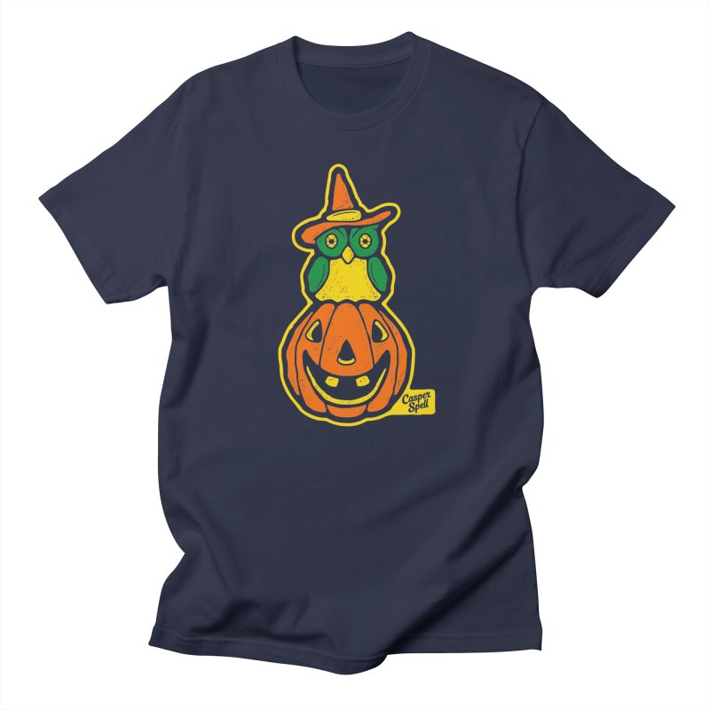 Witch Owl and Jack-O-Lantern Men's Regular T-Shirt by Casper Spell's Shop