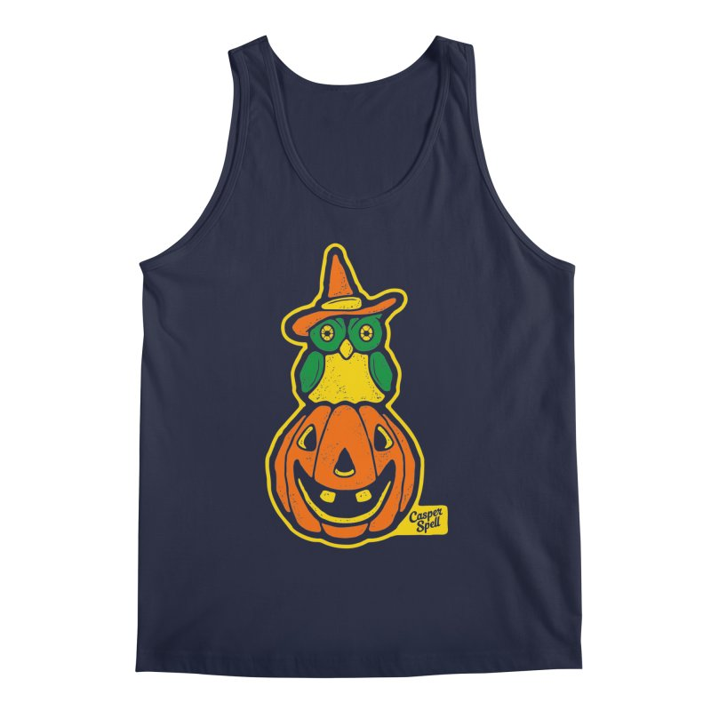 Witch Owl and Jack-O-Lantern Men's Tank by Casper Spell's Shop