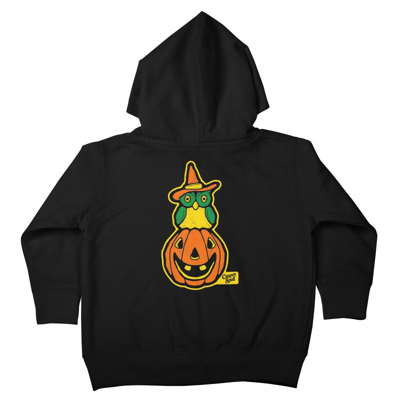 Witch Owl and Jack-O-Lantern Kids Toddler Zip-Up Hoody by Casper Spell's Shop