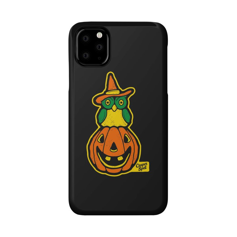 Witch Owl and Jack-O-Lantern Accessories Phone Case by Casper Spell's Shop