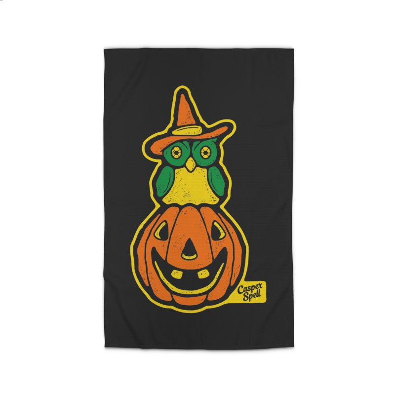 Witch Owl and Jack-O-Lantern Home Rug by Casper Spell's Shop