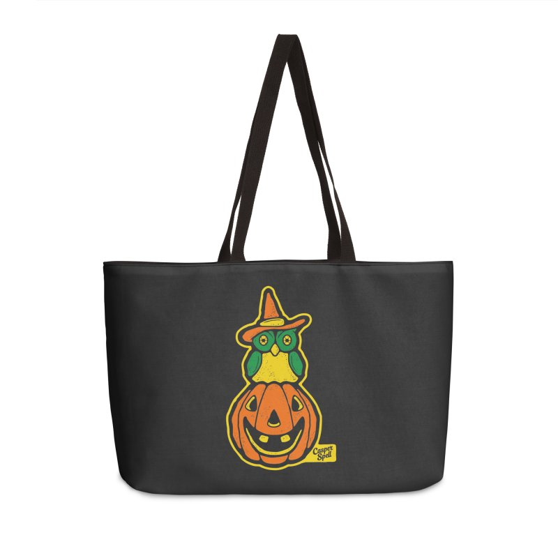 Witch Owl and Jack-O-Lantern Accessories Weekender Bag Bag by Casper Spell's Shop