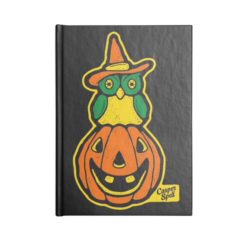 Witch Owl and Jack-O-Lantern Accessories Lined Journal Notebook by Casper Spell's Shop