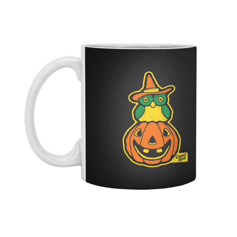 Witch Owl and Jack-O-Lantern Accessories Mug by Casper Spell's Shop