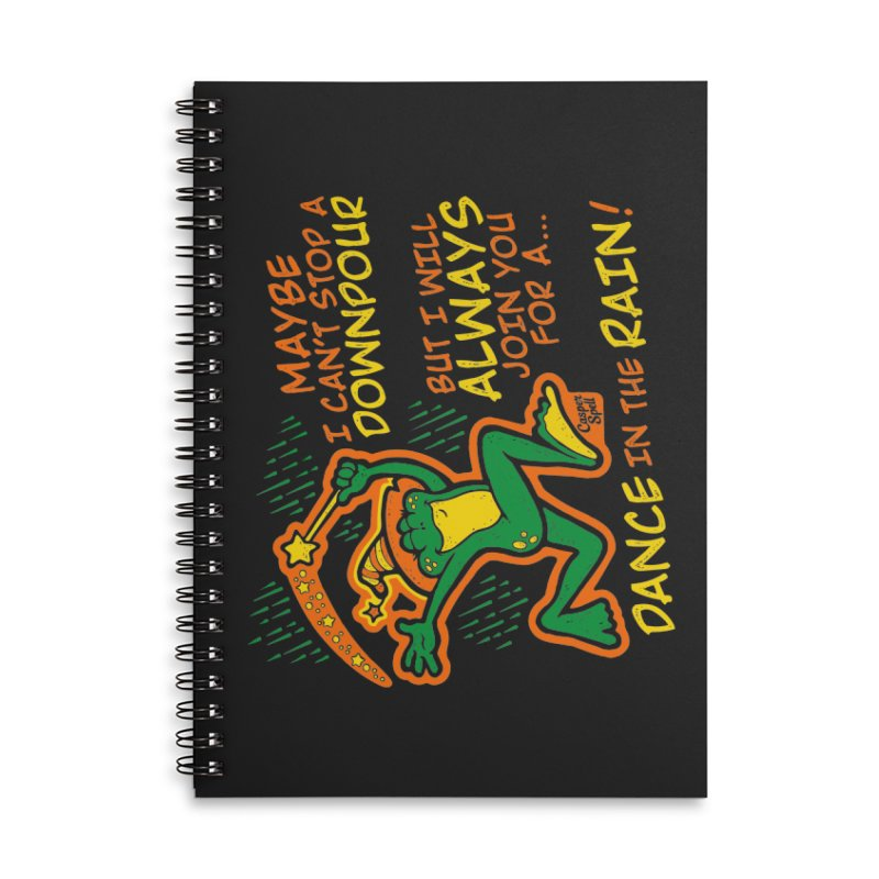 Dance in the Rain Accessories Lined Spiral Notebook by Casper Spell's Shop