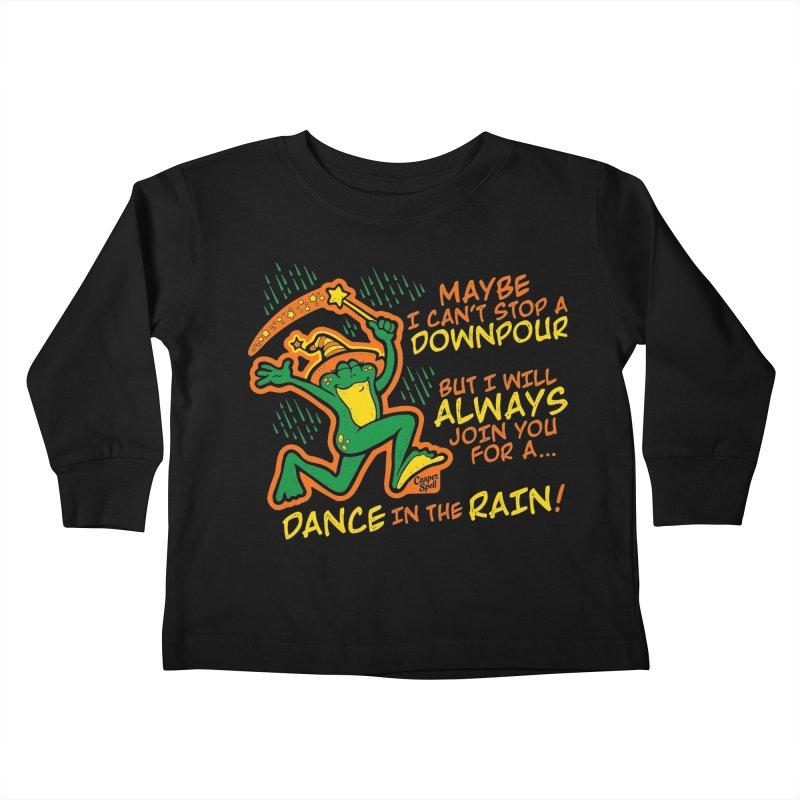 Dance in the Rain Kids Toddler Longsleeve T-Shirt by Casper Spell's Shop