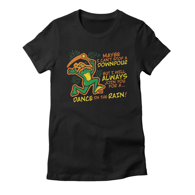 Dance in the Rain Women's Fitted T-Shirt by Casper Spell's Shop