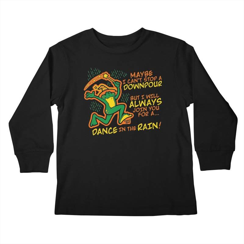 Dance in the Rain Kids Longsleeve T-Shirt by Casper Spell's Shop