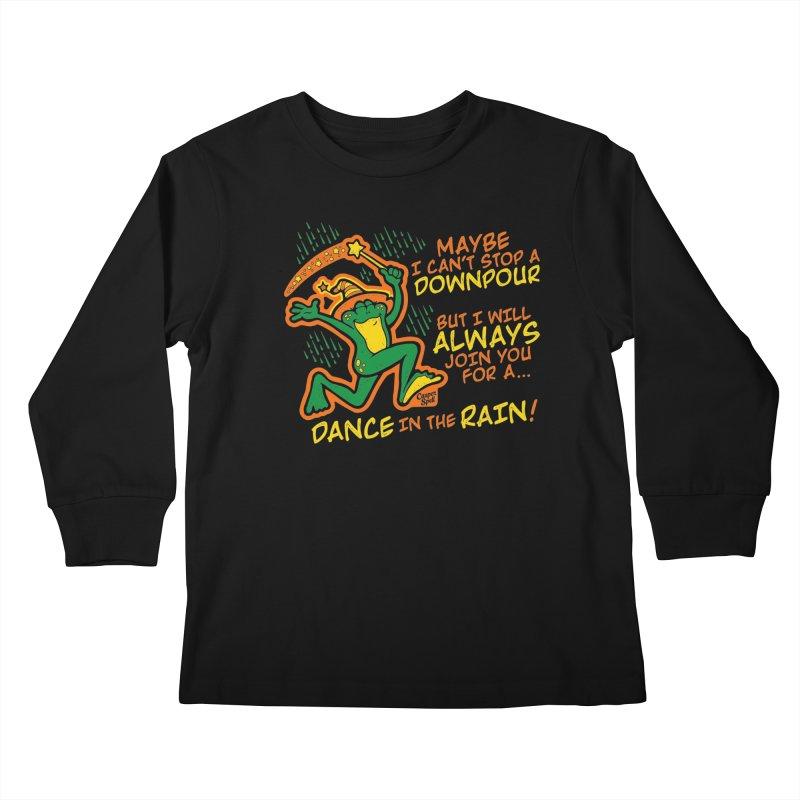 Dance in the Rain Kids Longsleeve T-Shirt by Casper Spell's Shop