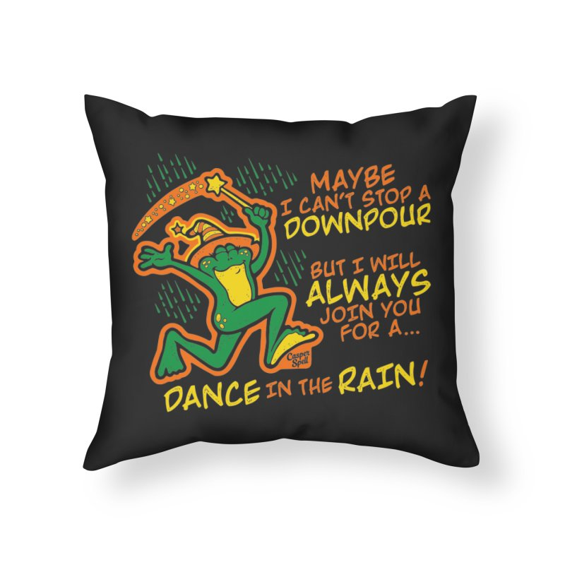 Dance in the Rain Home Throw Pillow by Casper Spell's Shop