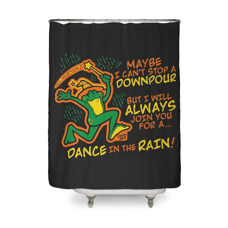 Dance in the Rain Home Shower Curtain by Casper Spell's Shop