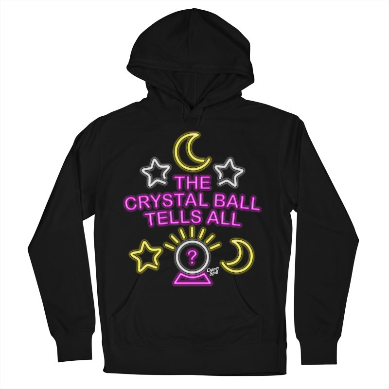 Neon Psychic Crystal Ball Tells All Women's Pullover Hoody by Casper Spell's Shop