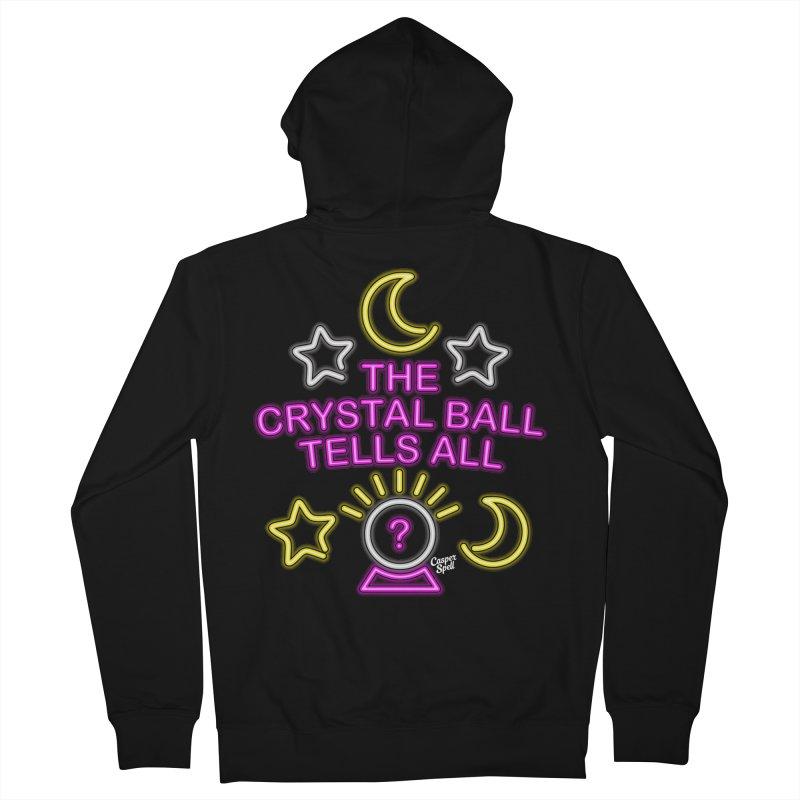 Neon Psychic Crystal Ball Tells All Men's Zip-Up Hoody by Casper Spell's Shop