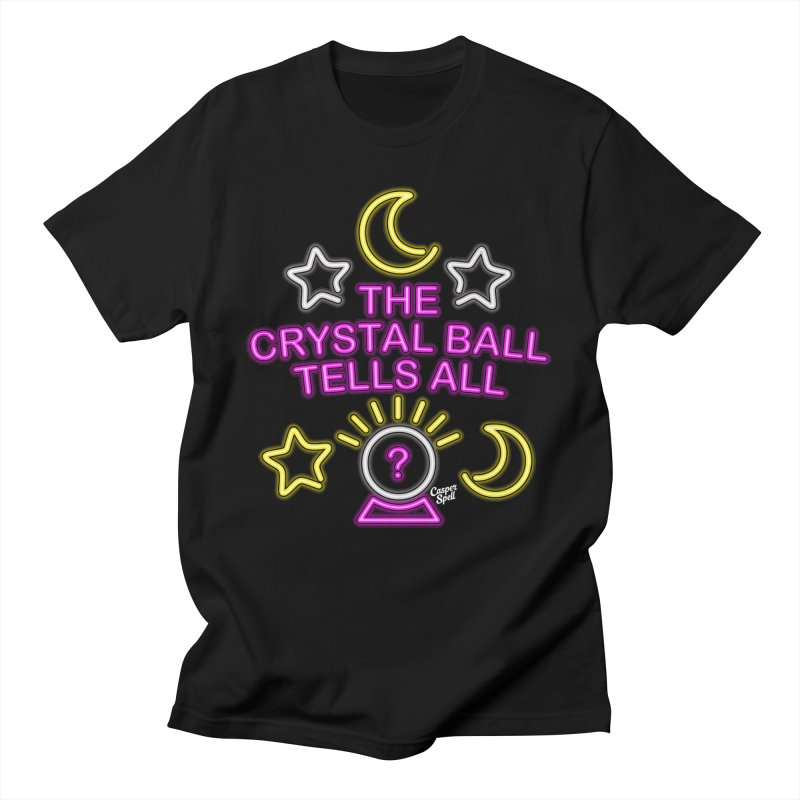 Neon Psychic Crystal Ball Tells All Men's T-Shirt by Casper Spell's Shop