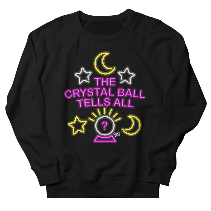 Neon Psychic Crystal Ball Tells All Men's Sweatshirt by Casper Spell's Shop