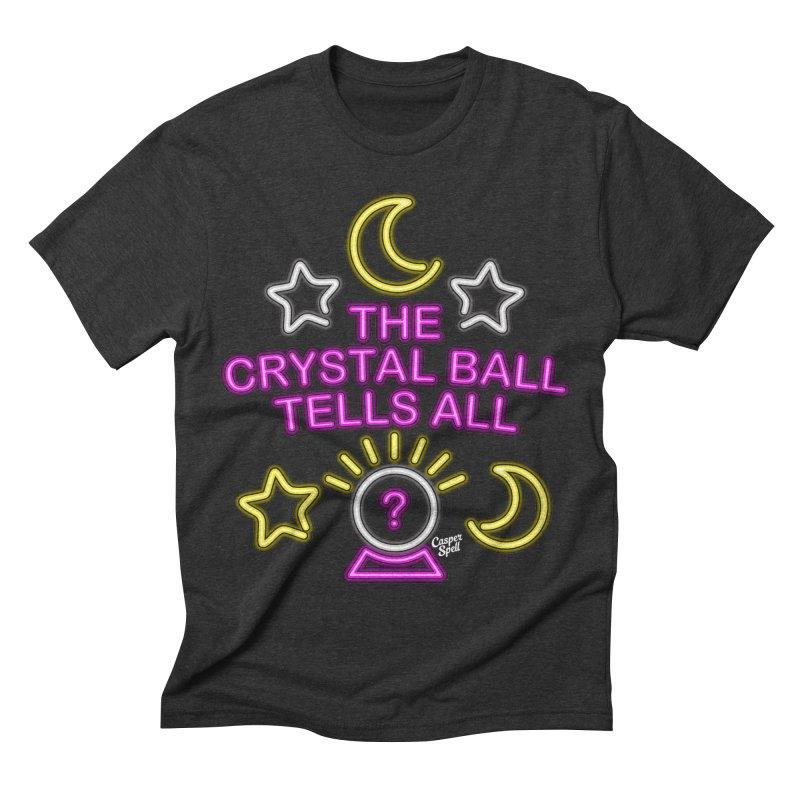 Neon Psychic Crystal Ball Tells All Men's Triblend T-shirt by Casper Spell's Shop