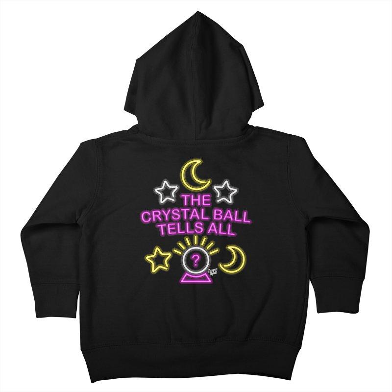 Neon Psychic Crystal Ball Tells All Kids Toddler Zip-Up Hoody by Casper Spell's Shop