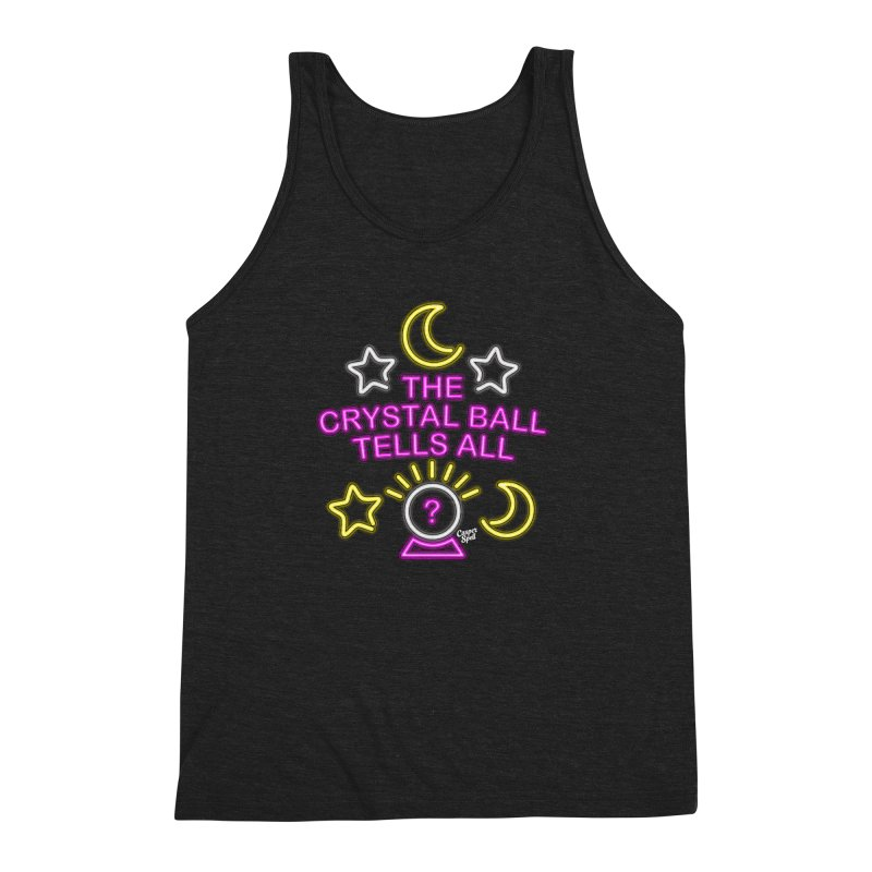 Neon Psychic Crystal Ball Tells All Men's Triblend Tank by Casper Spell's Shop