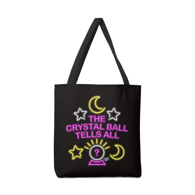 Neon Psychic Crystal Ball Tells All Accessories Bag by Casper Spell's Shop