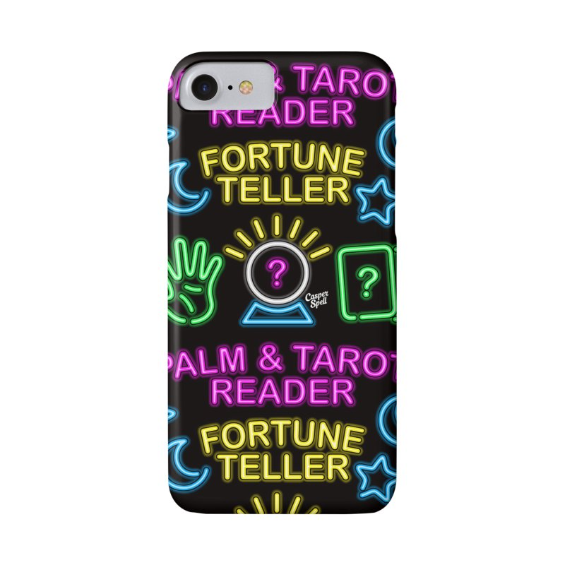 Neon Fortune Teller Palm Tarot Reader Accessories Phone Case by Casper Spell's Shop