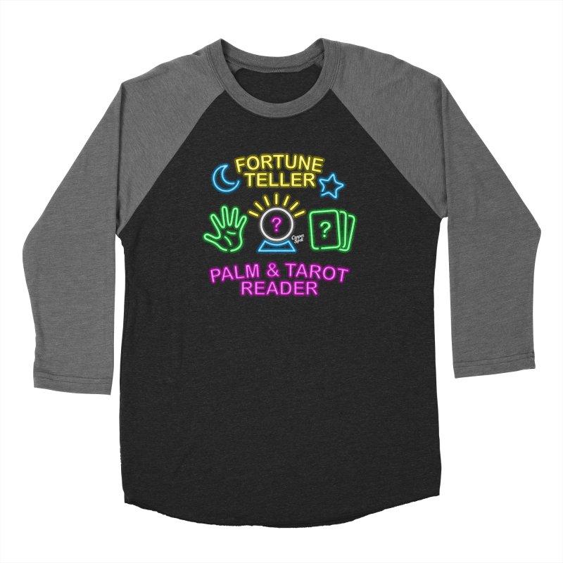 Neon Fortune Teller Palm Tarot Reader Men's Longsleeve T-Shirt by Casper Spell's Shop