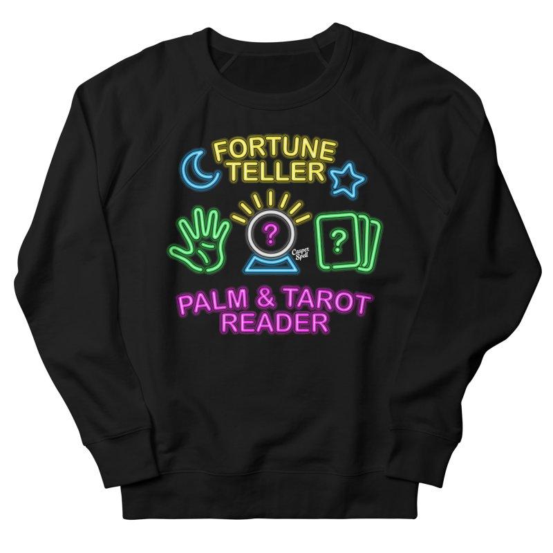 Neon Fortune Teller Palm Tarot Reader Women's Sweatshirt by Casper Spell's Shop