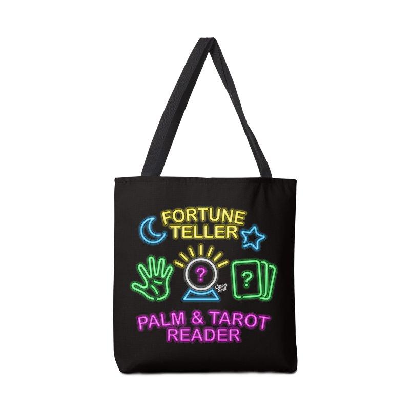 Neon Fortune Teller Palm Tarot Reader Accessories Bag by Casper Spell's Shop