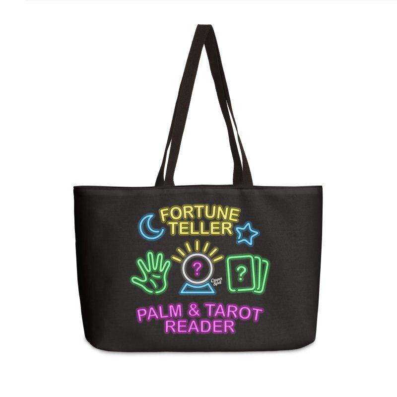 Neon Fortune Teller Palm Tarot Reader Accessories Weekender Bag Bag by Casper Spell's Shop
