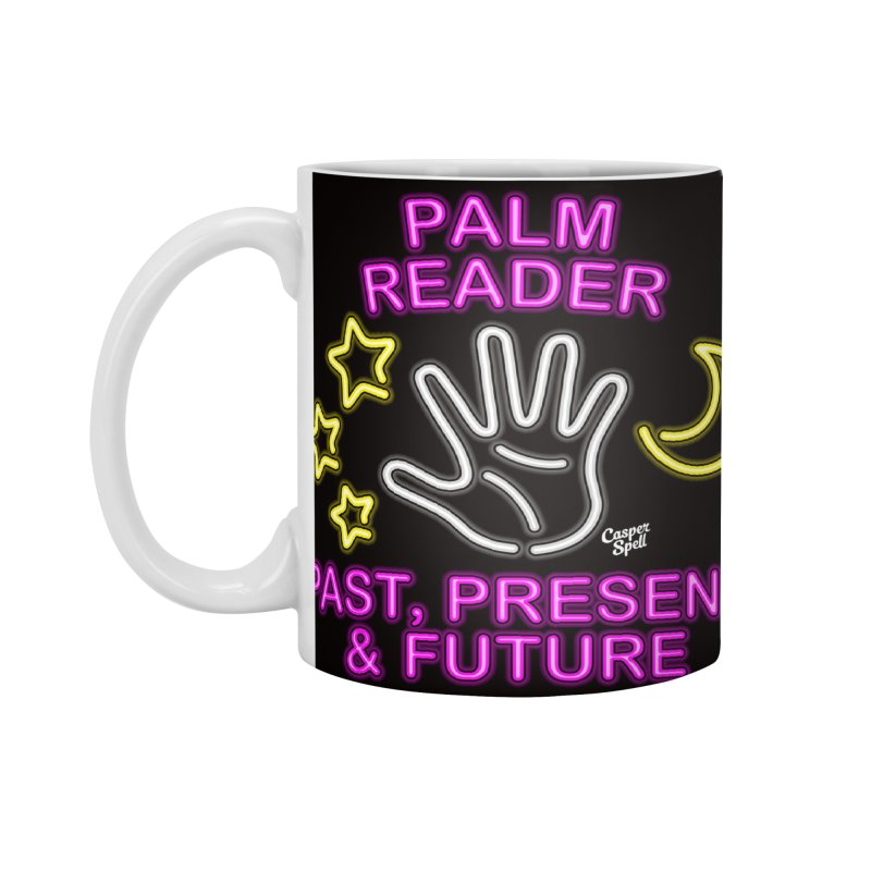 Neon Psychic Fortune Palm Reader Accessories Mug by Casper Spell's Shop