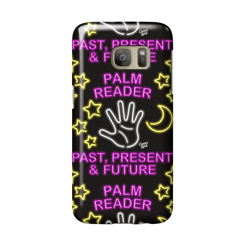 Neon Psychic Fortune Palm Reader Accessories Phone Case by Casper Spell's Shop