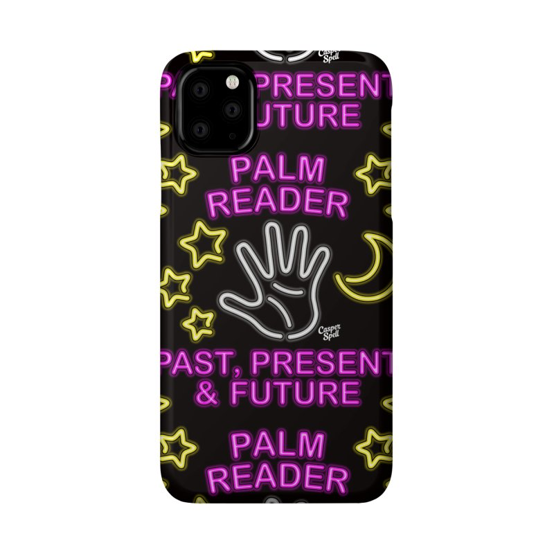Neon Psychic Fortune Palm Reader Accessories Phone Case by Casper Spell's Shop
