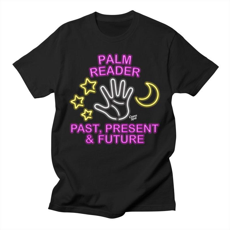 Neon Psychic Fortune Palm Reader Men's T-Shirt by Casper Spell's Shop